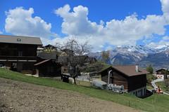 Nax (bulbocode909) Tags: valais suisse nax vald'hérens montnoble montagnes nature villages arbres paysages printemps nuages vert bleu chalets