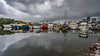 Storm at the marina, Darwin (NettyA) Tags: australia darwin nt northernterritory city wetseason 2016 reflection wet water clouds buildings marina francesbay mooringbasin theduckpond fishingboats boats