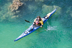 Afloat (Shane Jones) Tags: boat kayak paddle oar floating water sea clear nikon d500 200400vr tc14eii pembrokeshire lydstep wales