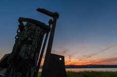 Purton Boat Graveyard 2004 (Matt Bigwood) Tags: sunset clouds lens nikon gloucestershire riversevern d2h 1224 hulks purton boatgraveyard