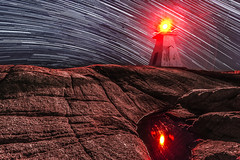 Beacon in the Stars (bluegreenorange) Tags: lighthouse canada night novascotia ns startrails lighthousetrail terencebay terencebaylighthouse