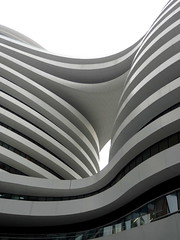 Galaxy Soho, Zaha Hadid, Beijing (blafond) Tags: architecture curves beijing curvy peking zahahadid pekin courbes galaxysoho
