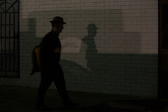 shadow man (Salle-Ann) Tags: street urban night shadows streetphotography