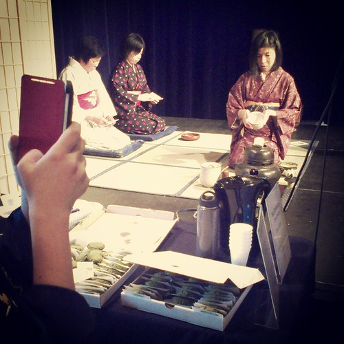 Japanese tea ceremony demonstration at #yxy Old Fire Hall for @culturedays #Yukon