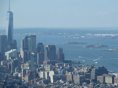 The view to the South (Quite Adept) Tags: nyc autumn newyork worldtradecenter september empirestatebuilding empirestate wtc statueofliberty 2014