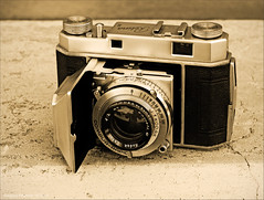 Kodak Retina II with 47mm f2 Kodak Ektar Lens (newmexico51) Tags: camera 35mm vintage fifties kodak chrome 1950s folding clamshell retina ektar foldingcamera rangefindercamera 35mmrangefinder kodakektar retinaii gregorypeterson
