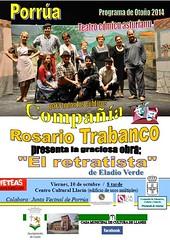 """Compañía Trabanco presenta """"El retratista"""" . Os esperamos el Viernes, 10 de Octubre, a las 20.00 horas en Centro Cultural Llacín. • <a style=""""font-size:0.8em;"""" href=""""http://www.flickr.com/photos/41424175@N07/15234554167/"""" target=""""_blank"""">View on Flickr</a>"""