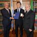 Mauricio Macri recibio la Medalla de Oro a la cultura italiana, en Roma.