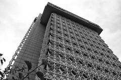 Kaden Tower (Beau Finley) Tags: blackandwhite monochrome architecture kentucky franklloydwright louisville beaufinley kadentower williamwesleypeters cantilevertrusses concretelattice