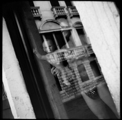 # 6 Love my Virus (LANCEPHOTO) Tags: venice bw italy reflection film mannequin kodak highcontrast 35mmfilm squareformat rapid expiredfilm 24x24 caffenol minolta24rapid camscan mannequinreflection rapidcamera so331 labeauratoire caffenolconcoction film4life
