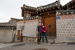 Bukchon Hanok Village (Gin-Lung Cheng) Tags: city travel family vacation people woman holiday man building male men travelling me girl architecture female asian women asia chinese korea location abroad seoul stephanie activity southkorea ik activities jiani