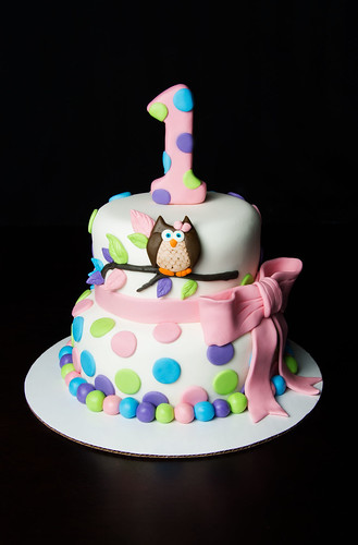 Super Owl Themed First Birthday Cake A Photo On Flickriver Funny Birthday Cards Online Hendilapandamsfinfo