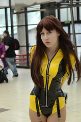 Cosplays at the 5th day of Japan Expo 15eme/2014 , Paris, France: Silk Spectre from DC Comics' Watchmen (SpirosK photography) Tags: portrait paris france anime japan japanese costume play expo cosplay manga culture convention dccomics watchmen parcdesexpositions silkspectre