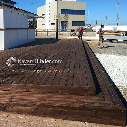 terraza en madera tratada