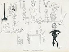 Albert Dubout Album 1944  cartoon l amnesique