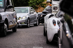 wide (SKVisuals) Tags: white black london cars 6x6 photography mercedes wide harrods sportscars supercars pagani carporn londoncars huayra hypercars