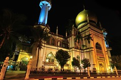 Arab Street Mosque At Night (a.rutherford1) Tags: city urban night digital dark lowlight nikon singapore asia forsale ambientlight tropical neonlights afterdark slowshutterspeed d300 republicofsingapore modelnikond300 fnumberf13 photosfromflickrgmailcom lens1224mmf4040 exposuretime8sec