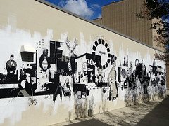 Mural outside Mississippi Museum of Art in Jackson (chibeba) Tags: city autumn urban usa fall america mississippi october unitedstates capital jackson ms northamerica 2014