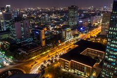 Thamrin at Night (mekelbagus) Tags: night speed 35mm indonesia slow shot nightshot sony jakarta f2 nikkor jalan ais thamrin nex a6000