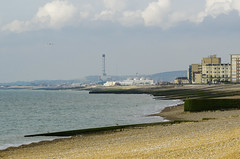 Hove Seafront With Shoreham Power station (grahambrown1965) Tags: seagulls bird beach birds sussex brighton pentax hove seagull gull gulls shingle sigma seafront groyne powerstation shoreham groynes 70200mm shorehampowerstation pentaxk5iis k5iis hdpentaxdaafrearconverter14xaw