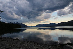 the lake of immense beauty (bbosica20) Tags: sky lake beach nature clouds canon landscape montana skies horizon glaciernp lakemcdonald