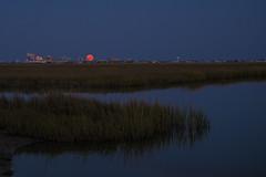 KMW_2605a (Kate Marsh Weatherall) Tags: orange reflection bay moonrise atlanticcity