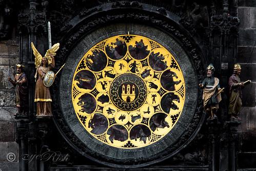 Prague - Golden Sun Dial