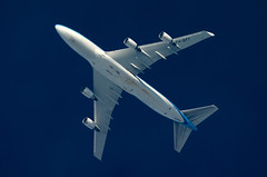 PH-BFY (jpro747) Tags: above blue sky up plane airplane contrail close aircraft aviation aeroplane aerial trail telescope boeing klm overhead 747 vapour airliner dobsonian 2400mm