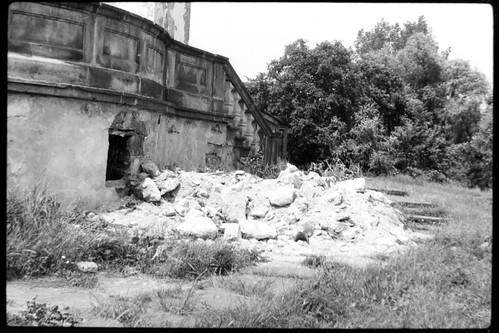 Zamek Szydłowiecki, prace remontowe, lata 80-te, XXw.