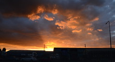 Sunset over Goole