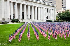 Ohio State Capital (John H Dallis) Tags: columbus ohio building grass downtown state flag capital 911 johnhdallis