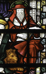 St Jerome and his Lion (Lawrence OP) Tags: window cathedral cardinal victorian lion stainedglass neogothic truro stjerome galero doctorofthechurch johnloughboroughpearson