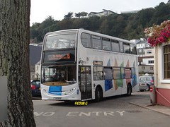 Round the bend (Coco the Jerzee Busman) Tags: uk bus liberty islands coach nimbus ct jersey plus dennis dart channel caetano