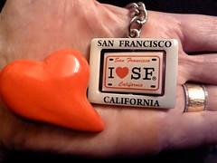 "San Francisco: ""In the palm of my hand"" theme for Macro Monday: (ArtsySF©Marjie) Tags: copyright macro ceramic hearts words san francisco key pin hand heart palm chain theme monday hmm ileftmyheartinsanfrancisco inthepalmofmyhand ileftmyheart artsysf macromonday"