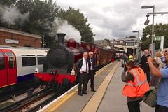 Met 1 - Ealing Common (GreenHoover) Tags: tube steam londonunderground met1 districtline lu steamlocomotive lul steamloco ealingcommon metno1 metropolitansteamlocomotive1