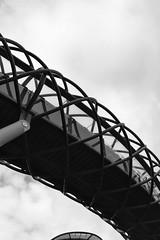Lone Pedestrian, Twisty Bridge Edinburgh (www.daevans.co.uk - Street Photography Workshops i) Tags: bridge blackandwhite woman scotland edinburgh