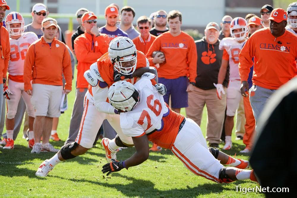 Clemson Photos: 2014, Football, Kevin  Dodd, practice, Shaq  Anthony