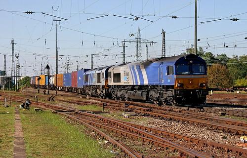 ERS Class 66 6607 und 6615 Basel Bad Bhf