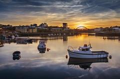 Evening on the River Wear, Sunderland (DM Allan) Tags: autumn sunset evening wear equinox sunderland wearside wearmouth fishquay