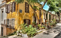 (#2.440) Athens Greece (unicorn 81) Tags: travel house architecture haus athens greece plaka architektur romantic idyll altstadt oldtown hdr smallroad