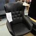 Black leatherette armchair