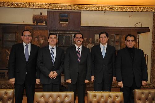 Gobernador Guillermo Padrés se reunió con el secretario de la SCT, Dionisio Pérez Jácome, para anunciar inversión a la 4 carriles en este año.