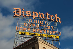 Ohio's Greatest Home Newspaper (Eridony) Tags: columbus ohio sign newspaper downtown neonsign franklincounty
