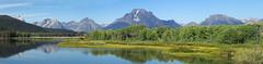 Ox-Bow Bend panorama 2 (Baffledmostly) Tags: reflection snakeriver grandteton oxbowturnoutsnakeriver