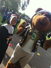Nun run Darlington 5/10/14 for the Great North Air Ambulance (Megabucks777) Tags: run nun southpark darlington fancydress starradio sisteract gnaa greatnorthairambulance northeastairambulance