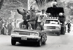 Homecoming parade, circa 1990s. (NDSU University Archives) Tags: cars parades homecoming floats northdakotastateuniversity