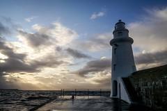 Guide Me Home (Silver Machine) Tags: sea sky lighthouse lumix evening scotland aberdeenshire harbour macduff lumixg lumixg5