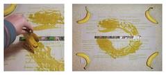 """""""an apple a day keeps the doctor away - An ENSO (circle) a Day ..."""" 11. Oct. 14: Brainstorming Bananas: Paradise Rugs Warhol Velvet Underground Belafonte Josephine Baker... ~ Bananen: ja natürlich fairtrade merkur Paradies Teppich Herz Hand Papier..."""