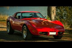 Corvette Stingray (Aardvarklord) Tags: red chevrolet car sport muscle american veteran cinematic corvette postprocessing canonef135f20l