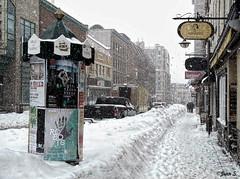 Snow... again and again (Jean S..) Tags: snow winter street snowstorm sidewalk people québec buildings truck white fllickrunitedaward